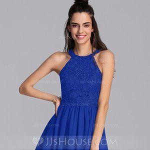 Royal Blue Mini Chiffon Homecoming Dress